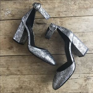 Michael Kors collection silver heels